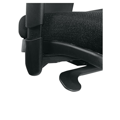 Alera Epoch Series Fabric Mesh Multifunction Chair, Supports up to 275 lbs, Black Seat/Black Back, Black Base. Picture 6