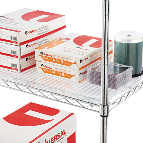 Shelf Liners For Wire Shelving, Clear Plastic, 48w x 24d, 4/Pack. Picture 4