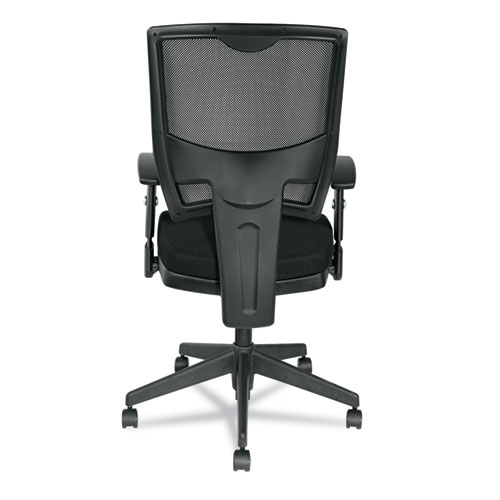 Alera Epoch Series Fabric Mesh Multifunction Chair, Supports up to 275 lbs, Black Seat/Black Back, Black Base. Picture 7
