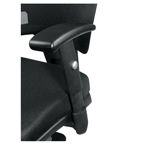 Alera Epoch Series Fabric Mesh Multifunction Chair, Supports up to 275 lbs, Black Seat/Black Back, Black Base. Picture 8