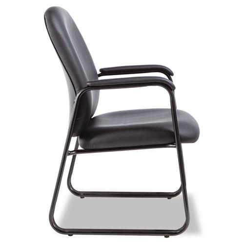"Alera Genaro High-Back Guest Chair, 24.60"" x 24.80"" x 36.61"", Black Seat/Black Back, Black Base. Picture 2"