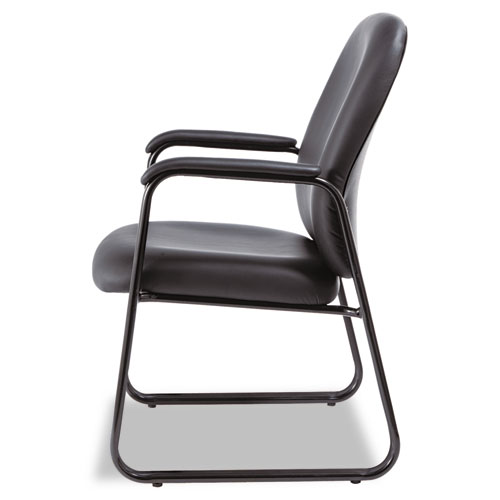 "Alera Genaro High-Back Guest Chair, 24.60"" x 24.80"" x 36.61"", Black Seat/Black Back, Black Base. Picture 3"