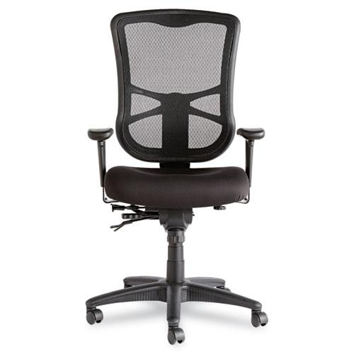 Alera Elusion Series Mesh High-Back Multifunction Chair, Supports up to 275 lbs, Black Seat/Black Back, Black Base. Picture 6