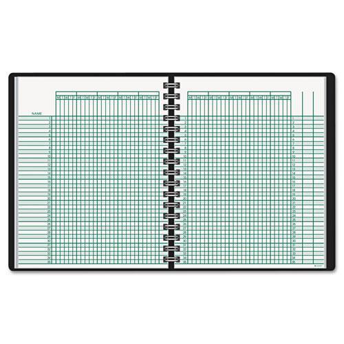 Undated Class Record Book, 10 7/8 x 8 1/4, Black. Picture 1