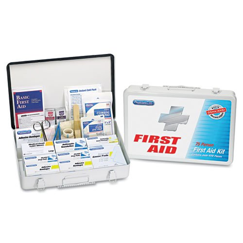 First Aid Kit for up to 75 People, Metal, 419 Pieces/Kit. Picture 1