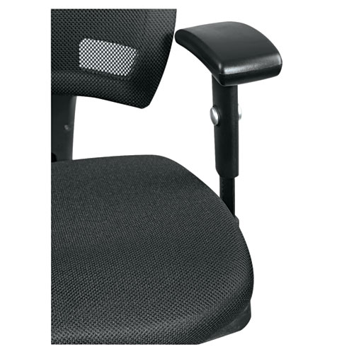 Alera Epoch Series Fabric Mesh Multifunction Chair, Supports up to 275 lbs, Black Seat/Black Back, Black Base. Picture 11