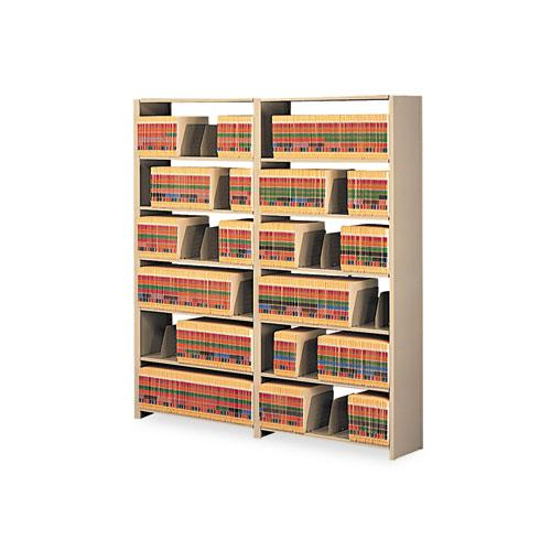 Snap-Together Six-Shelf Closed Add-On, Steel, 36w x 12d x 76h, Sand. Picture 1
