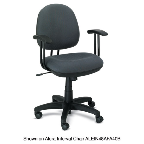 Alera Fixed T-Arms for Interval and Essentia Series Chairs and Stools, Black. Picture 2