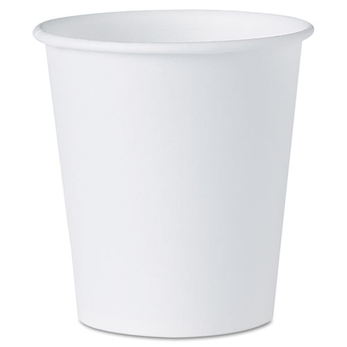 White Paper Water Cups, 3oz, 100/Bag, 50 Bags/Carton. Picture 1
