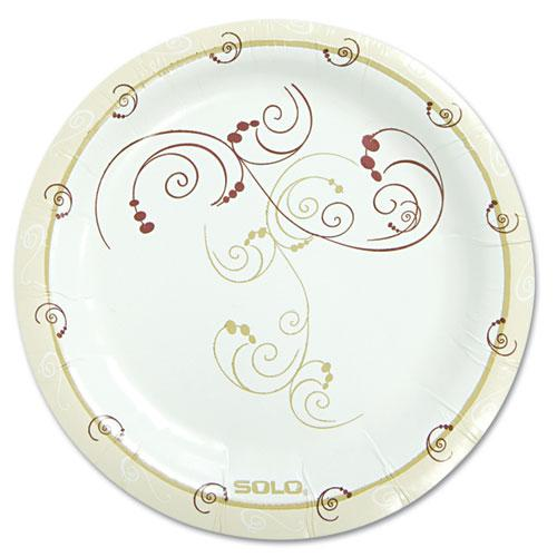 "Symphony Paper Dinnerware, Mediumweight Plate, 6"", Tan, 125/Pack. The main picture."
