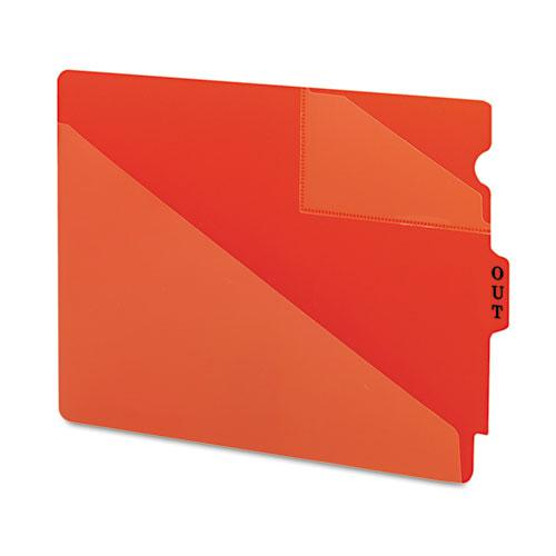 End Tab Poly Out Guides, Two-Pocket Style, 1/3-Cut End Tab, Out, 8.5 x 11, Red, 50/Box. Picture 2