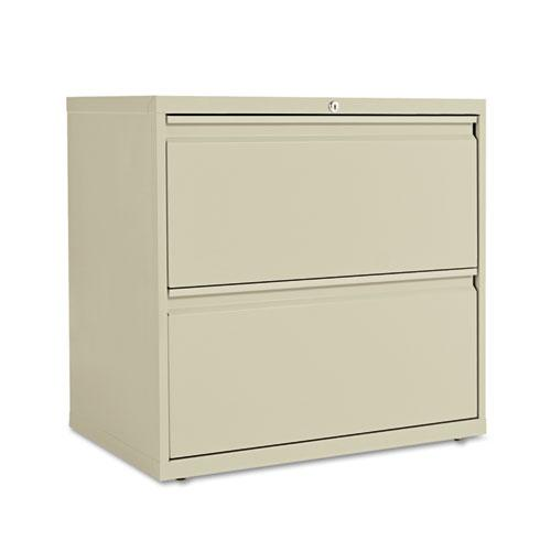 Two-Drawer Lateral File Cabinet, 30w x 18d x 28h, Putty. Picture 1