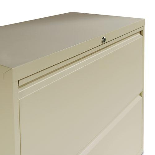 Two-Drawer Lateral File Cabinet, 30w x 18d x 28h, Putty. Picture 2