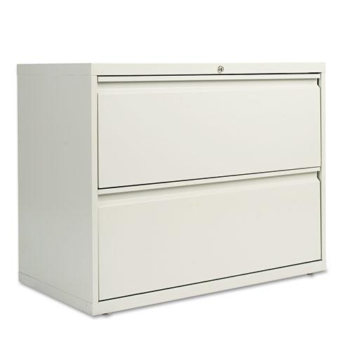 Two-Drawer Lateral File Cabinet, 36w x 18d x 28h, Light Gray. Picture 1