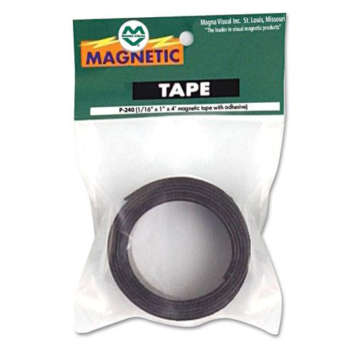 """Magnetic/Adhesive Tape, 1"""" x 4 ft Roll. Picture 1"""