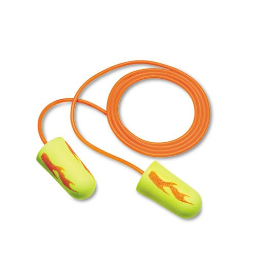 E·A·Rsoft Blasts Earplugs, Corded, Foam, Yellow Neon, 200 Pairs. Picture 2