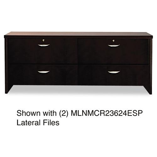 Mira Series Wood Veneer Credenza, 72w x 24d x 29½h, Espresso. Picture 3