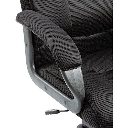 Alera Logan Series Mesh High-Back Swivel/Tilt Chair, Supports up to 275 lbs, Black Seat/Black Back, Black Base. Picture 6