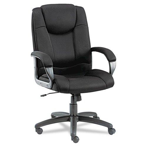 Alera Logan Series Mesh High-Back Swivel/Tilt Chair, Supports up to 275 lbs, Black Seat/Black Back, Black Base. Picture 5