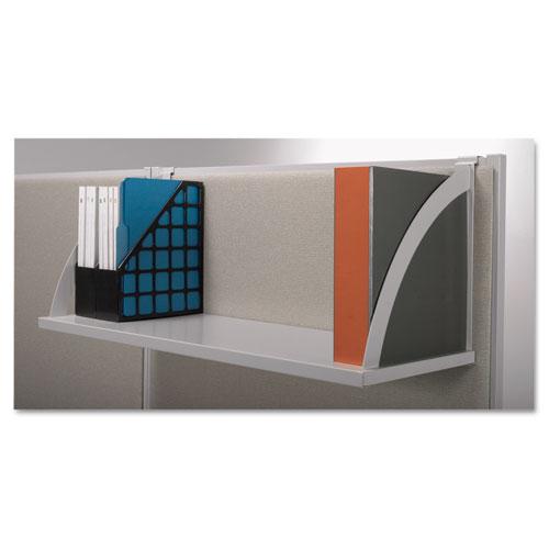 Versé Panel System Hanging Shelf, 60w x 12.75d, Gray. Picture 2