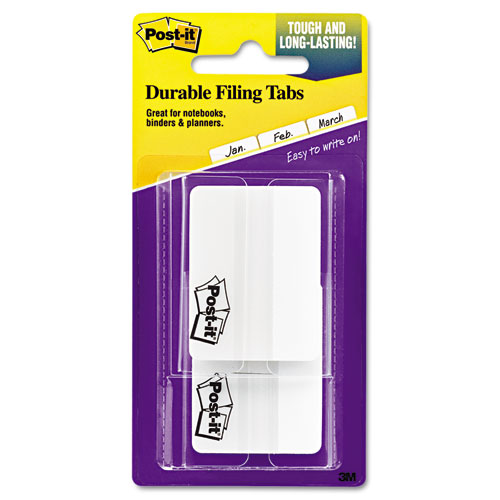 "2"" and 3"" Tabs, Lined, 1/5-Cut Tabs, White, 2"" Wide, 50/Pack. Picture 2"
