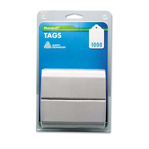 Refill Tags, 1 1/4 x 1 1/2, White, 1,000/Pack. Picture 1