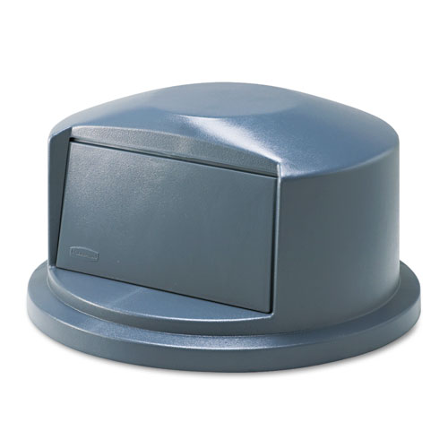 BRUTE Dome Top Swing Door Lid for 32 gal Waste Containers, Plastic, Gray. Picture 1