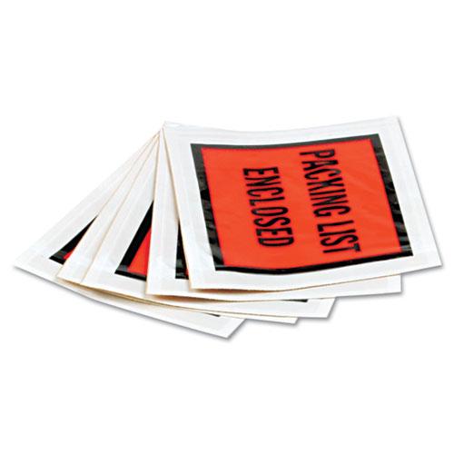 Self-Adhesive Packing List Envelope, 4.5 x 5.5, Orange, 1,000/Carton. Picture 2