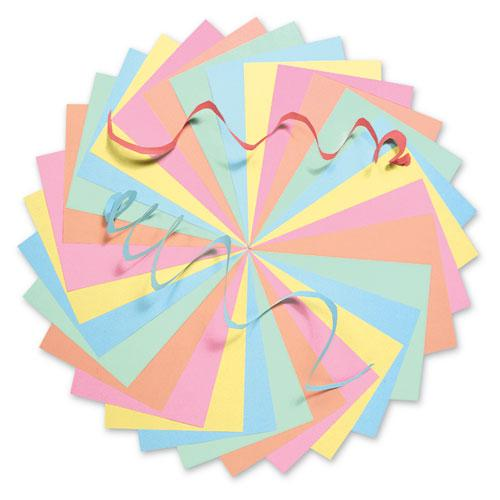 Assorted Colors Tagboard, 12 x 9, Blue/Canary/Green/Orange/Pink, 100/Pack. Picture 2