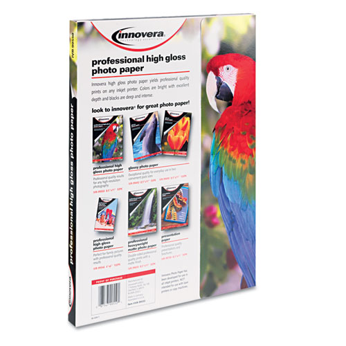 High-Gloss Photo Paper, 10 mil, 8.5 x 11, High-Gloss White, 50/Pack. Picture 2