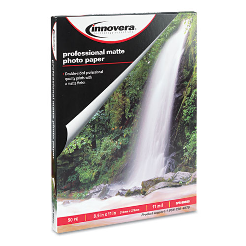 Heavyweight Photo Paper, 11 mil, 8.5 x 11, Matte White, 50/Pack. Picture 1