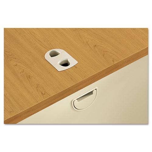 38000 Series Double Pedestal Desk, 72w x 36d x 29.5h, Harvest/Putty. Picture 2