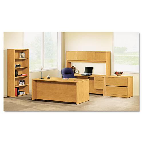 """10500 Series Double Pedestal Desk, 72"""" x 36"""" x 29.5"""", Harvest. Picture 2"""