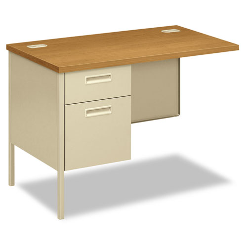 Metro Classic Series Workstation Return, Left, 42w x 24d, Harvest/Putty. Picture 1