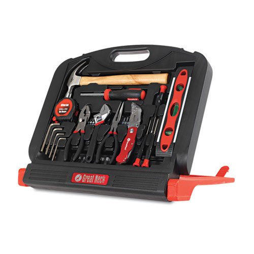 48-Tool Set in Blow-Molded Case, Black. Picture 2