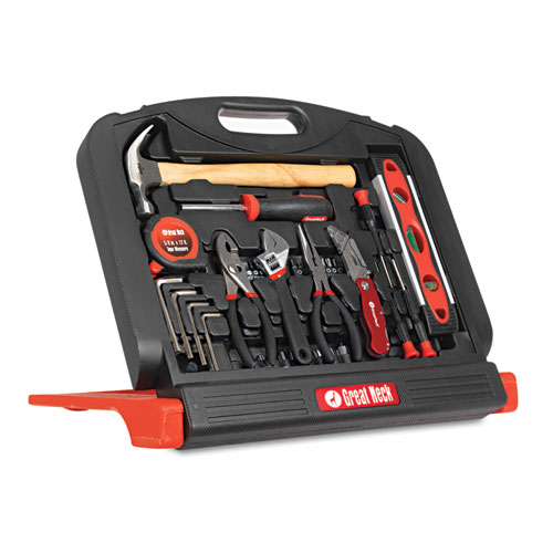 48-Tool Set in Blow-Molded Case, Black. Picture 1