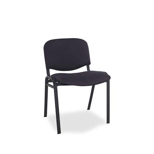 Alera Continental Series Stacking Chairs, Black Seat/Black Back, Black Base, 4/Carton. Picture 1