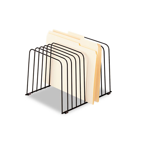 """Wire Desktop Organizer, 11 Sections, Letter to Legal Size Files, 9"""" x 11.38"""" x 8"""", Black. Picture 3"""