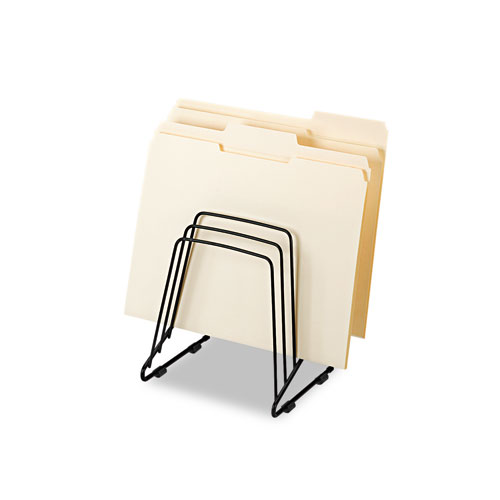"""Wire Step File II, 5 Sections, Letter to Legal Size Files, 7.25"""" x 6"""" x 8.25"""", Black. Picture 3"""