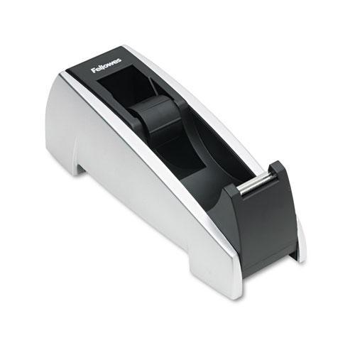 """Office Suites Desktop Tape Dispenser, 1"""" Core, Plastic, Heavy Base, Black/Silver. Picture 2"""