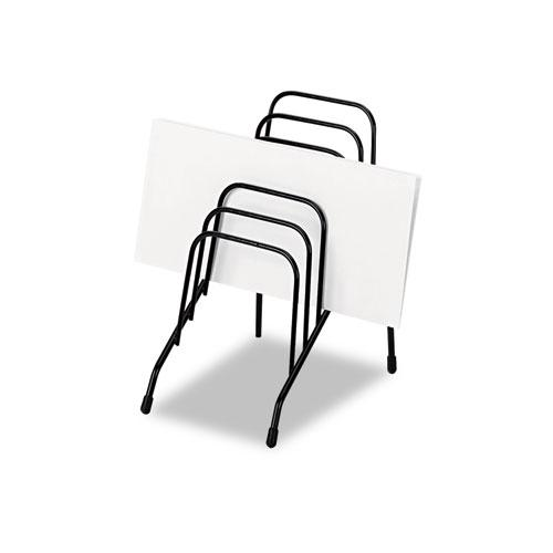"""Wire Step File Jr., 6 Sections, DL to A5 Size Files, 4.38"""" x 6.5"""" x 7.75"""", Black. Picture 2"""