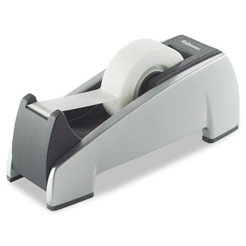 """Office Suites Desktop Tape Dispenser, 1"""" Core, Plastic, Heavy Base, Black/Silver. Picture 1"""