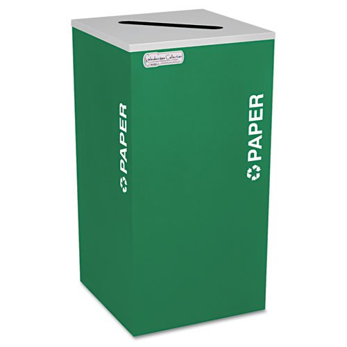 Kaleidoscope Collection Paper-Recycling Receptacle, 24 gal, Emerald Green. Picture 1