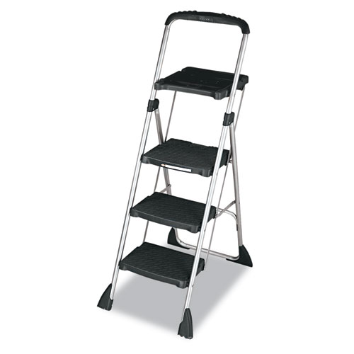 """Max Work Platform, 55"""" Working Height, 225 lbs Capacity, 3 Step, Black. Picture 2"""