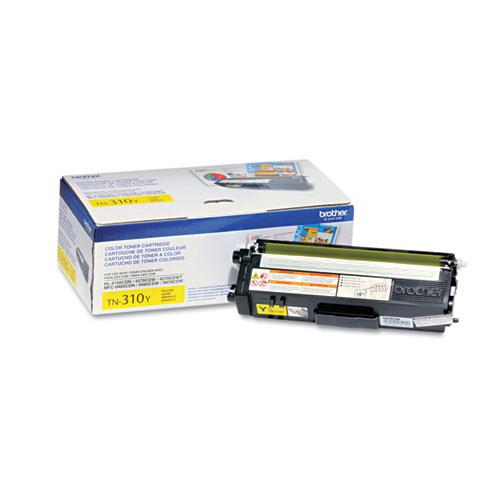 TN310Y Toner, 1,500 Page-Yield, Yellow. Picture 2