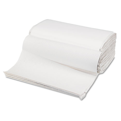 Singlefold Paper Towels, White, 9 x 9 9/20, 250/Pack, 16 Packs/Carton. Picture 2