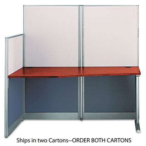 """Office in an Hour Collection Straight Workstation, 64.5"""" x 32.25"""" x 63"""", Hansen Cherry, (Box 2 of 2). Picture 1"""