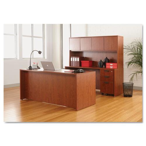 "Alera Valencia Series Straight Front Desk Shell, 65"" x 29.5"" x 29.63"", Medium Cherry. Picture 10"