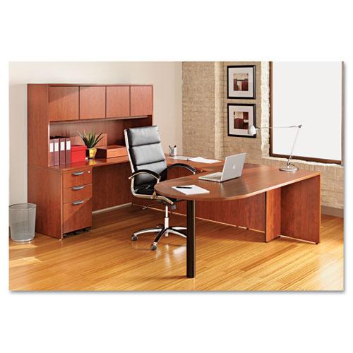 "Alera Valencia Series D-Top Desk, 71"" x 35.5"" x 29.63"", Medium Cherry. Picture 5"