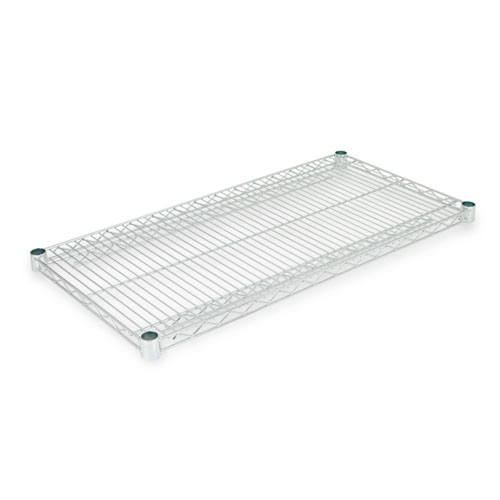 Industrial Wire Shelving Extra Wire Shelves, 36w x 18d, Silver, 2 Shelves/Carton. Picture 1